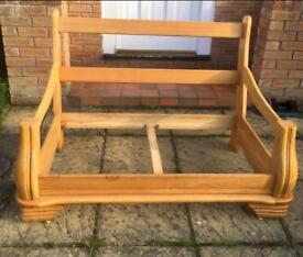 Solid oak sofa frames