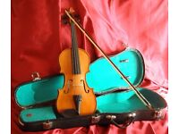 Student Violin 1/2 size ready to play. ANTONI