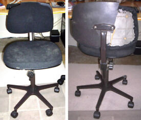 FREE typist/office swivel chair. Backrest damaged at back. Otherwise OK. COLLECTION ONLY Copath TD13