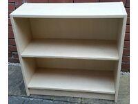 bookcase. birch colour. 76cm wide x 72cm high. Adjustable shelf. In very good condition.