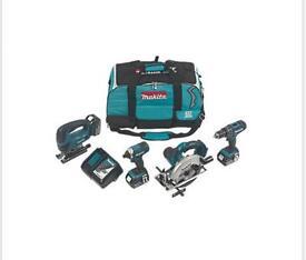 Makita drill/jigsaw/circular saw combo cordless tool kit