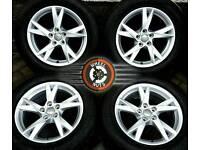 "17"" Genuine 5x112/5x114 Audi VW Tiguan alloys (2016 SHAPE) perfect cond., matchg Bridgestones."