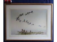 Painting White Storks Flying Quality Lithogrphic Print Karl Ewald Olszewski £60 ono