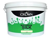 New 7L tub of Crown Vinyl Silk Paint in Magnolia