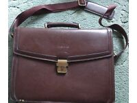 Tress & Co Real Leather Brown Briefcase
