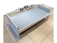 Kids bed IKEA Hensvik white wooden frame 165cm x 76cm