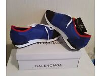 NEW BALENCIAGA ESSENTIALS TRAINERS - NEW WITH BOX & DUST BAG - UK SIZE: 7