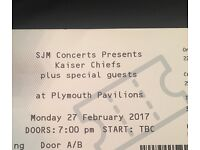 Kaiser Chief tickets x2 27.02.2017 Plymouth Pavillions