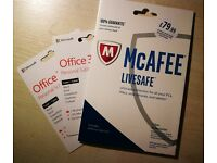 1x McAfee LifeSafe + 2x Office 365 Personal *RRP 199.97
