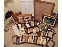 Vintage Picture Frames various sizes (46 total)