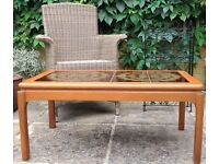 TILE TOP COFFEE TABLE, 16 BOTTLE WINE RACK, CONSERVATORY/GARDEN CHAIR