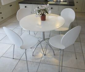 Bistro Style White & Chrome Dining Table & Chairs from M&S (Similar to current LOFT Brady range)