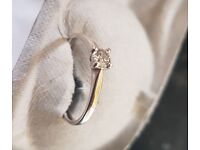 b165acd55 18K White Gold Engagement Ring 0.20ct H SI Diamond in stone claw Size N