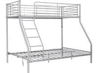Lucas Triple Metal Bunk Bed Frame - Silver