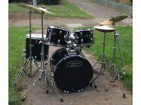 New Mapex Tornado III Fusion 20in Drum Kit, Black £350-£400
