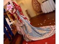 Bridal Pakistani Indian wedding lehnga dress £3000 rrp