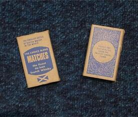 The Choice Blend Matches Scottish smallest bottle scotch collectible vintage