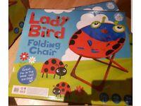 Kids folding garden animal chairs new