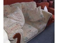 large two seat sofa, patterned and very comfortable. Delivery available.