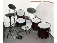 Jobeky Roland Electronic drum kit - Dark red sparkle 1 up 2 down Lovely! Can customise