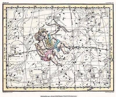 Astronomy Celestial Atlas Jamieson 1822 Plate-15 Art Paper or Canvas Print