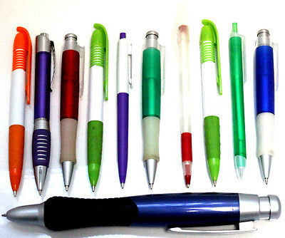 500x Blank Assorted Pens Ballpoint Black Ink Plastic BULK Wholesale Lot Cheap](Wholesale Pens)