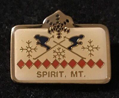 SPIRIT MOUNTAIN Skiing Ski Pin Duluth MINNESOTA MN Resort Travel Lapel