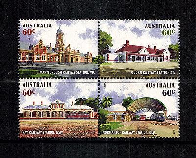 Historic Rail Stations  Australia  4 var,..mnh