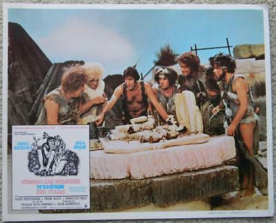 Lando Buzzanca with cavemen When Women Lost Their Tails 1972 lobby card 025