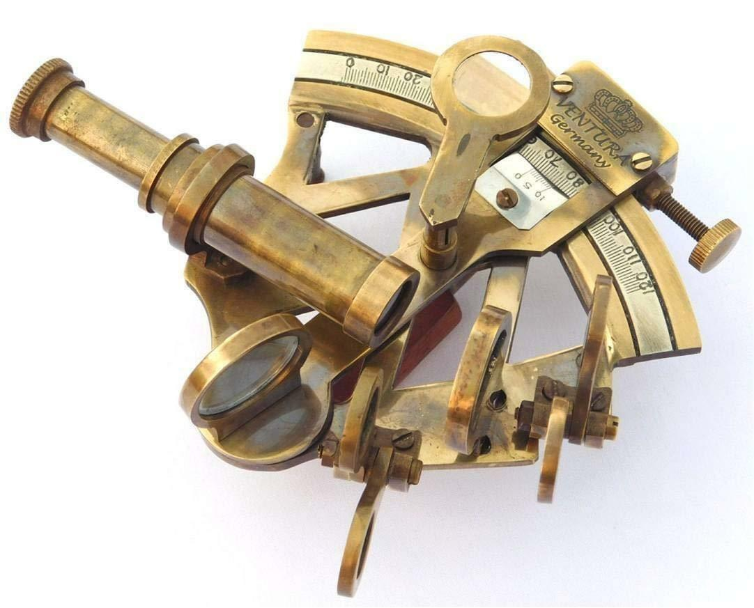 Solid Brass Sextant Vintage Marine Working German Sextant Ship Instrument