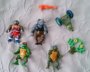 Lot-1988-Mirage-Studios-Playmates-Toys-Teenage-Mutant-Ninja-Turtles-TMNT-parts