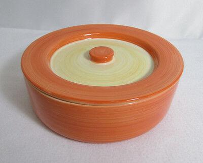 Pot Joyce Chen International Orange Cooking Ceramic Oven 8.75in Bowl w Lid Rare