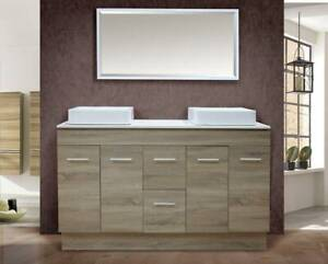 NEW ARRIVAL!!!!!!Grey Oak vanity-1.5m wide BG1500