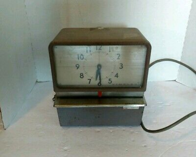 Vintage Simplex Time Clock Punch Clock