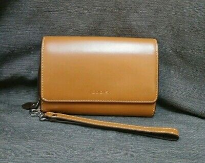 Lodis Audrey Bea Phone Leather Wallet Wristlet Clutch -Toffee  Lodis Audrey Clutch Wallet