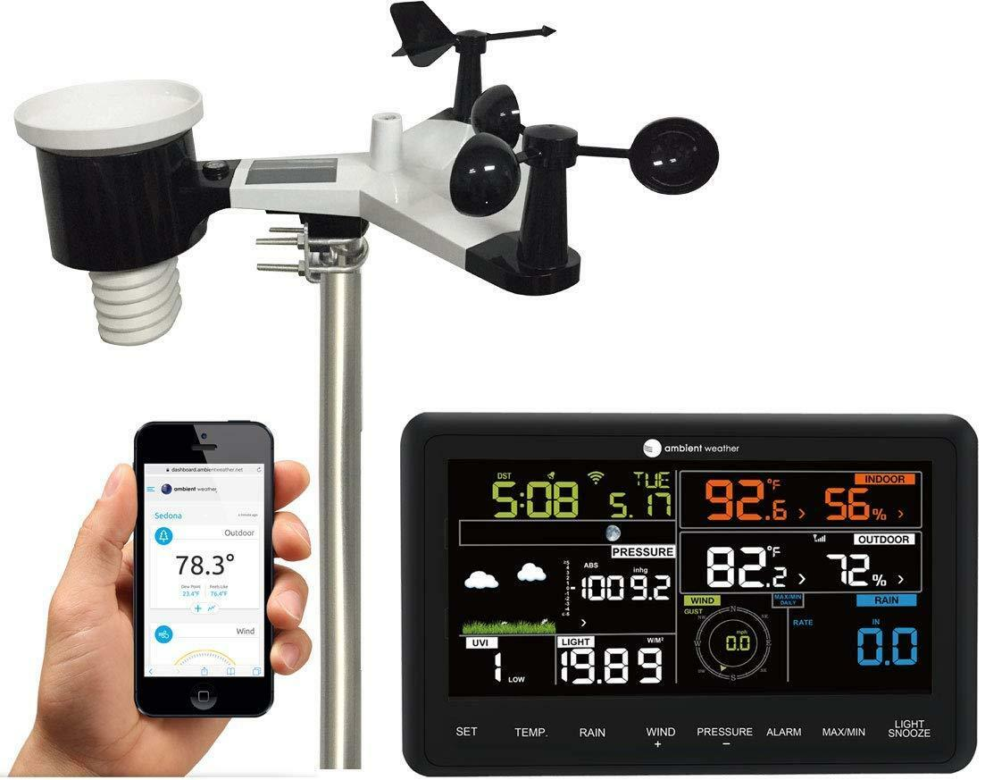 Ambient Weather WS-2902A Smart WiFi Weather Station with Rem