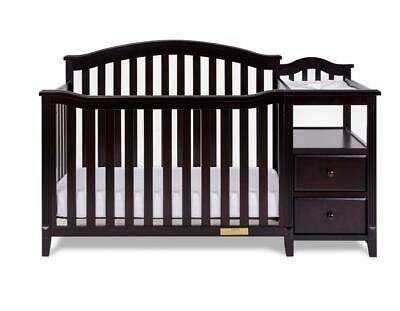 Kali 4-in-1 Convertible Crib and Changer, Espresso
