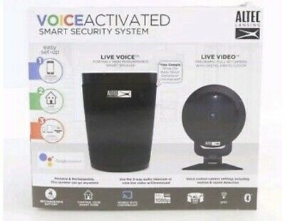 NEW Altec Lansing Voice Activated Smart Security System Portable Speaker Google
