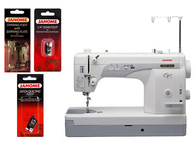 Janome 1600p-qc High Speed Sewing And Quilting Machine W Free Bonus Package
