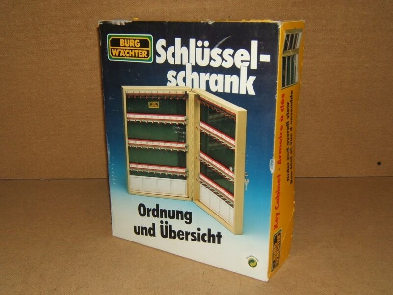 Burg Wachter Key Cabinet 14-in x 10 1/2-in x 3 1/4-in Gray German 64 Hooks 6500