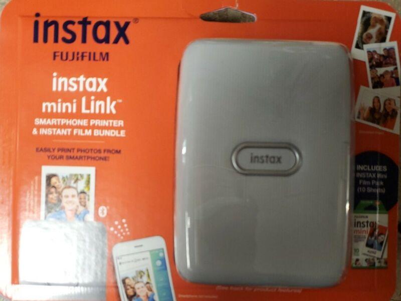Fujifilm Instax Mini Link Smartphone Printer Ash White & Instax Film Bundle