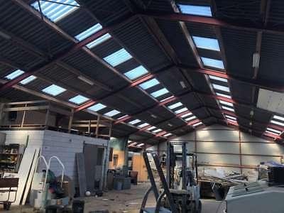 Stahlkonstruktion Stahlhalle Lagerhalle Satteldachhalle Produktionshalle 15x35 m