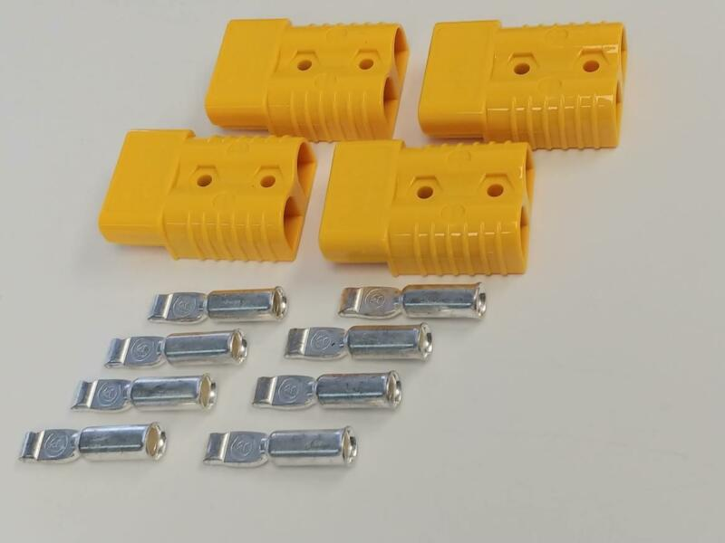 Anderson Style SB175 Connector Kit Yellow 1/0 Awg Set of 4