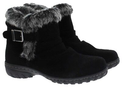 Khombu Lindsay Women's All Weather Black or Brown Suede Leather Winter Boots (Khombu Brown Boots)