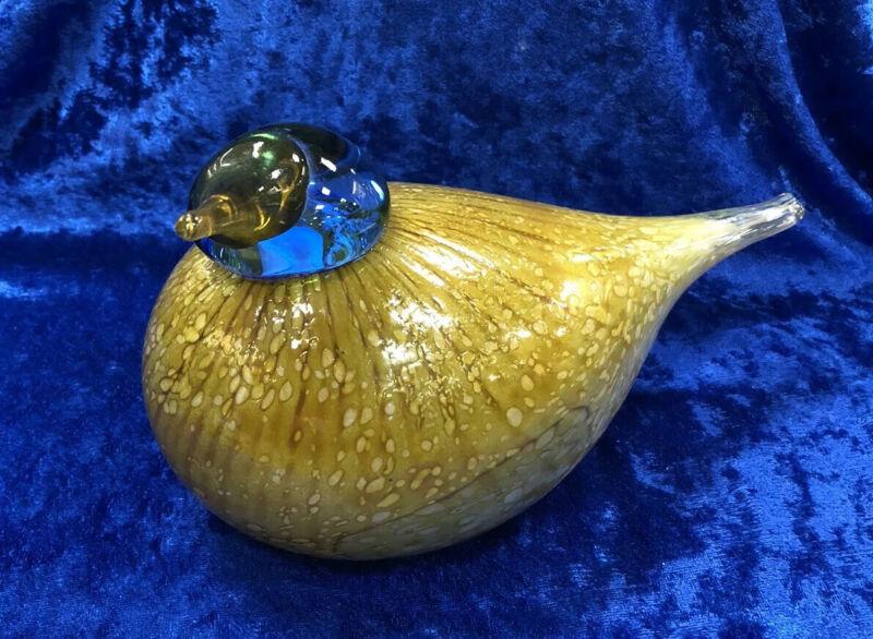 Oiva Toikka Nuutajarvi Finland Signed Art Glass Bird