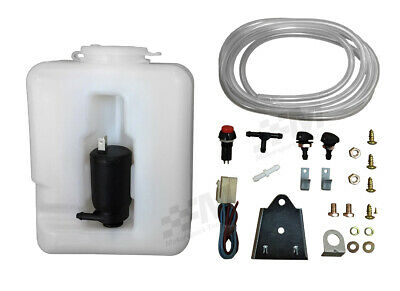 Wipac Universal Plastic Windscreen Washer Bottle Kit 1.2L Screen Wash Screenwash