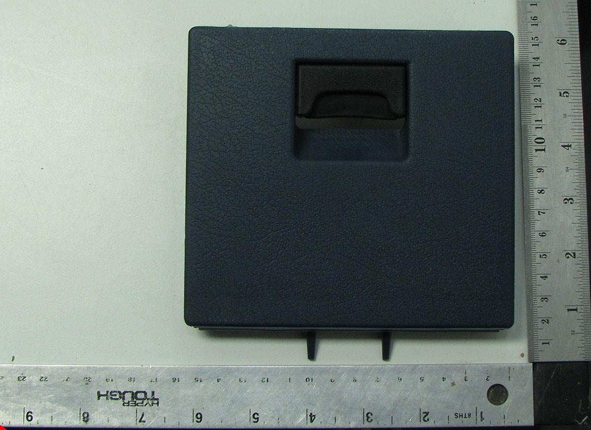 1986-1992 nissan d21 pathfinder lh left lower dash fuse box lid door cover  dark