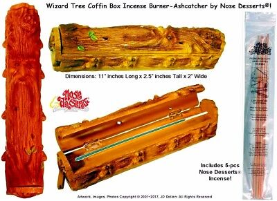 Forest Magic Wizard Coffin Box Stick Incense Burner #4923 by Nose Desserts® USA