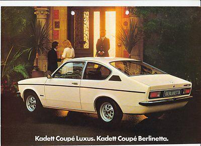 Opel Kadett Coupe Prospekt 1977 - deutscher Text