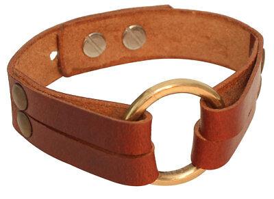 Steampunk Armband mit Ring Lederarmband Lederschmuck NEU (Steampunk Arm)